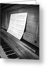 Piano Man Greeting Card by Jerry Cordeiro