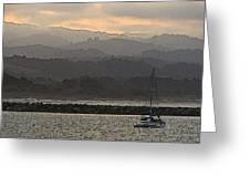 Pillar Point Harbor Below Half Moon Bay Hills Greeting Card by Scott Lenhart