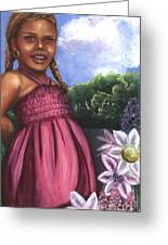 Pink Dress Greeting Card by Alga Washington
