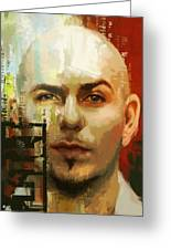 Pitbull Greeting Card by Corporate Art Task Force