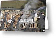 Piveteau Saw Mill, Sainte Florence Greeting Card by Laurent Salomon