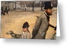 Place de la Concorde Greeting Card by Edgar Degas