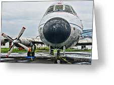 Plane Noses Up Greeting Card by Paul Ward