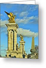 Pont Alexandre IIi Greeting Card by Mountain Dreams