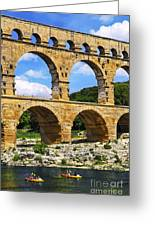 Pont Du Gard In Southern France Greeting Card by Elena Elisseeva