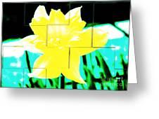 Pop Yellow Greeting Card by Arlene Carmel