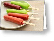 Popsicles Ice Cream Frozen Treat Greeting Card by Edward Fielding