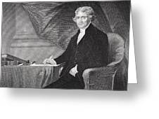 Portrait of Thomas Jefferson Greeting Card by Alonzo Chappel
