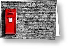 Post Box Greeting Card by Mark Rogan