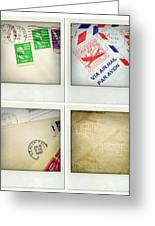 Postal Still Life Greeting Card by Les Cunliffe