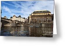 Prague from Vltava Greeting Card by Jelena Jovanovic