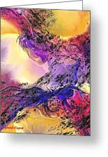 Presence Greeting Card by Francoise Dugourd-Caput