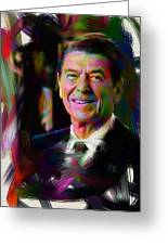 President Ronald Reagan Greeting Card by Official White House Photograph