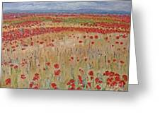 Provence Poppies Greeting Card by Barbara Anna Knauf