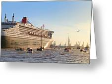 Queen Mary 2 Greeting Card by Marc Huebner