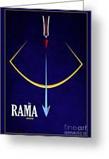 Rama The Avatar Greeting Card by Tim Gainey