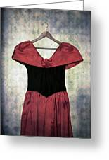 Red Dress Greeting Card by Joana Kruse