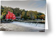 Red Mill Clinton Nj Greeting Card by Geraldine Scull