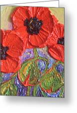 Red Poppies Greeting Card by Paris Wyatt Llanso