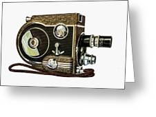 Revere 8 Movie Camera Greeting Card by Jon Woodhams