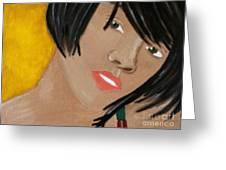 Rihanna  Greeting Card by Kristen Diefenbach