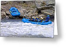 River Rafting Greeting Card by Susan Leggett
