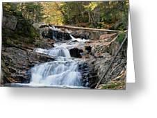 Roaring Brook Falls Greeting Card by Brett Pelletier