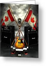 Rock N Roll Crest - Canada Greeting Card by Frederico Borges