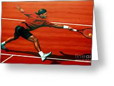 Roger Federer Greeting Card by Paul  Meijering