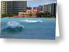 Royal Hawaiian Hotel Greeting Card by Kevin Smith