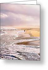 Run For The Wave Greeting Card by William Walker
