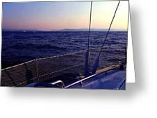 Sailboat Greeting Card by Ernesto Cinquepalmi