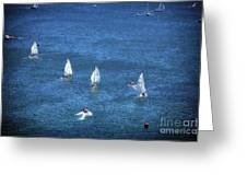 Sailing Greeting Card by John Rizzuto