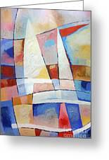 Sailing Joy Greeting Card by Lutz Baar