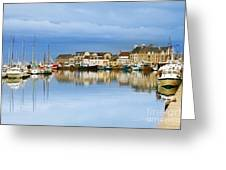 Saint-vaast-la-hougue Normandy France Greeting Card by Colin and Linda McKie