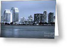 San Diego At Night Greeting Card by Paul Velgos
