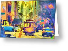 San Francisco Trams 12 Greeting Card by Yury Malkov