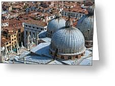 San Marco Basilica. Venice. Greeting Card by Fernando Barozza