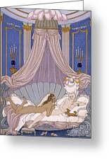 Scene From 'les Liaisons Dangereuses' Greeting Card by Georges Barbier