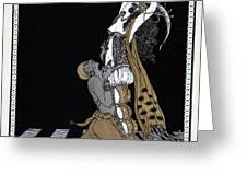 Scheherazade Greeting Card by Georges Barbier