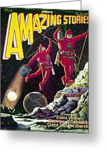 Science Fiction Cover 1929 Greeting Card by Granger