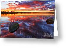 Scottish Loch at Sunset Greeting Card by John Farnan