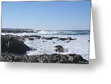 Sea Foam Greeting Card by Barbara Snyder