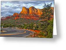 Sedona Arizona Panorama Greeting Card by Gregory Dyer