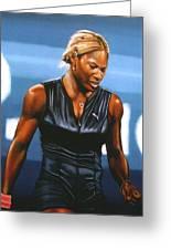 Serena Williams Greeting Card by Paul Meijering