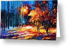 Shadows On Snow Greeting Card by Leonid Afremov