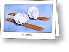 Ski Bunnies... Greeting Card by Will Bullas