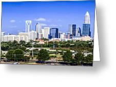 Skyline Of Uptown Charlotte North Carolina Greeting Card by Alex Grichenko