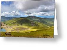 Snowdonia Panorama Greeting Card by Jane Rix