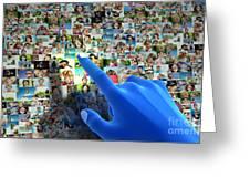 Social Media Network Greeting Card by Michal Bednarek